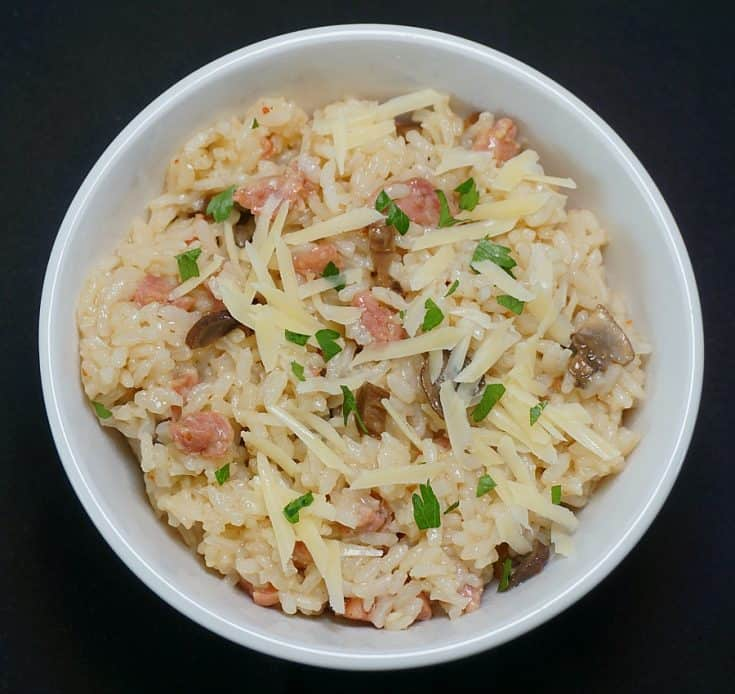 Instant Pot Risotto with Sausage and Mushrooms