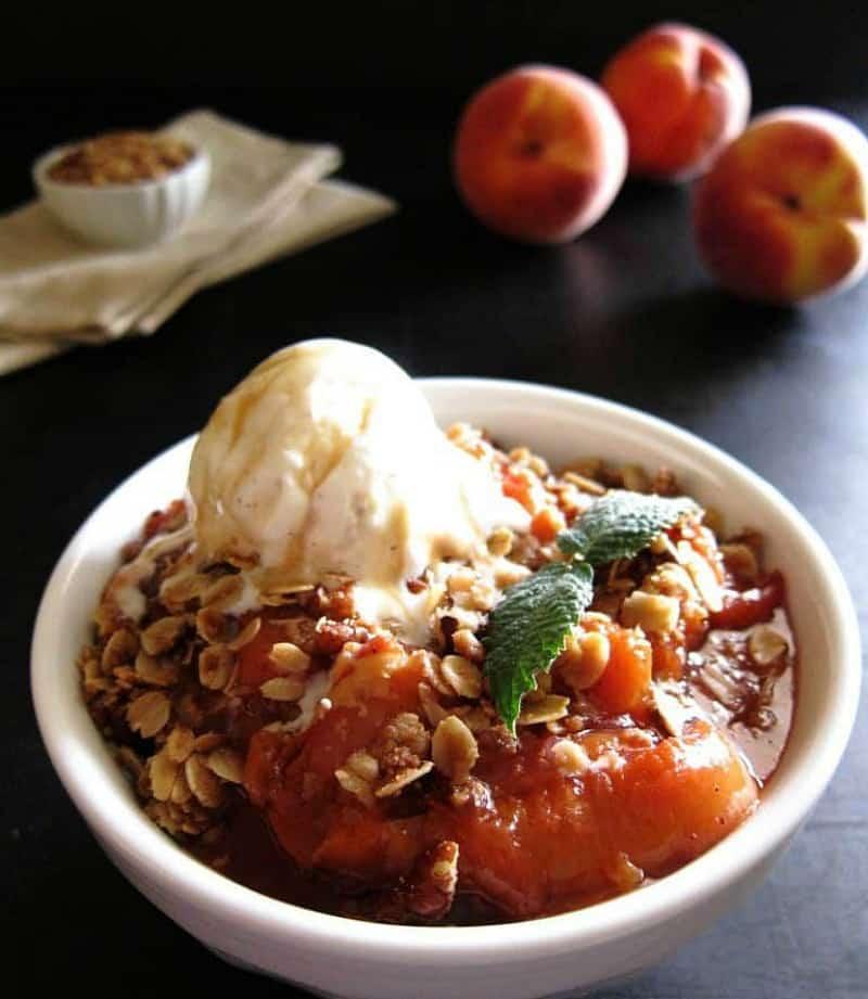 Instant Pot Peach Crisp