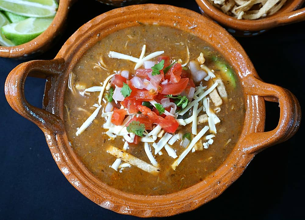 Chicken Tortilla Soup with Cheese
