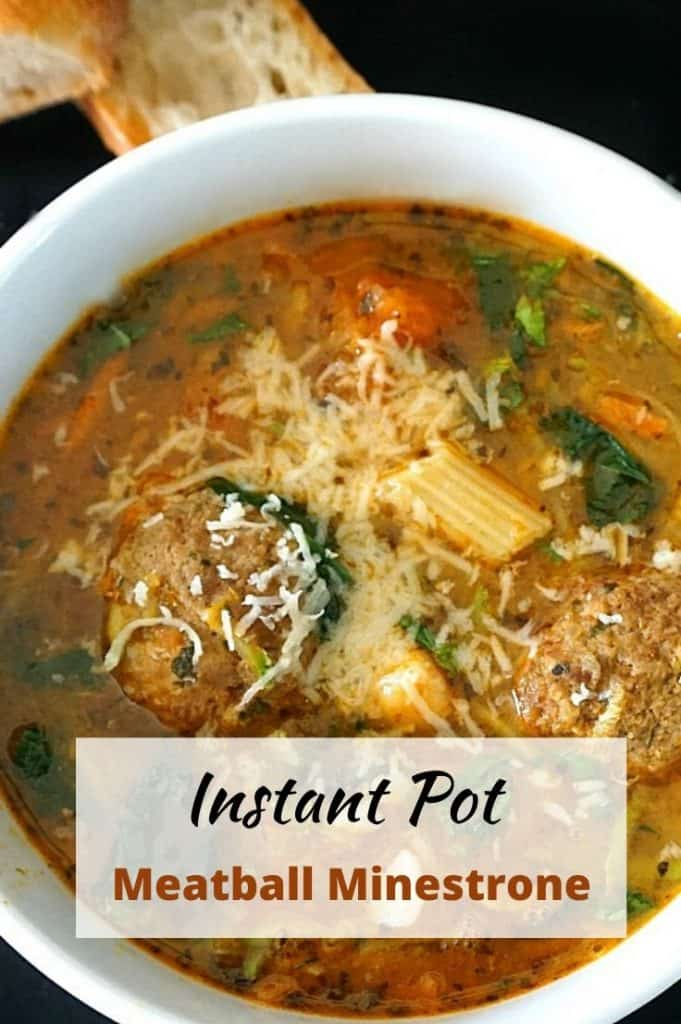 Instant Pot Meatball Minestrone Soup