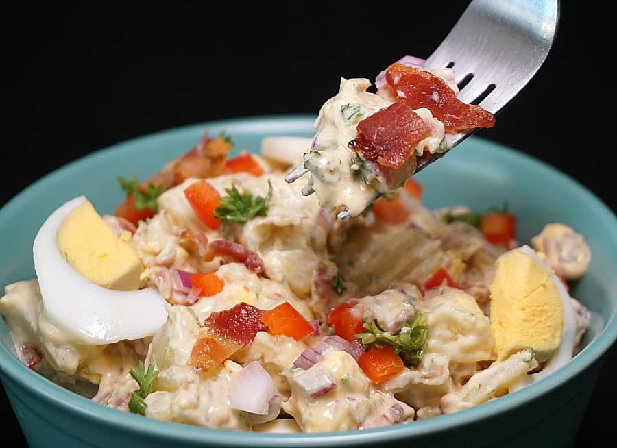 Instant Pot Potato Salad with Bacon and Eggs