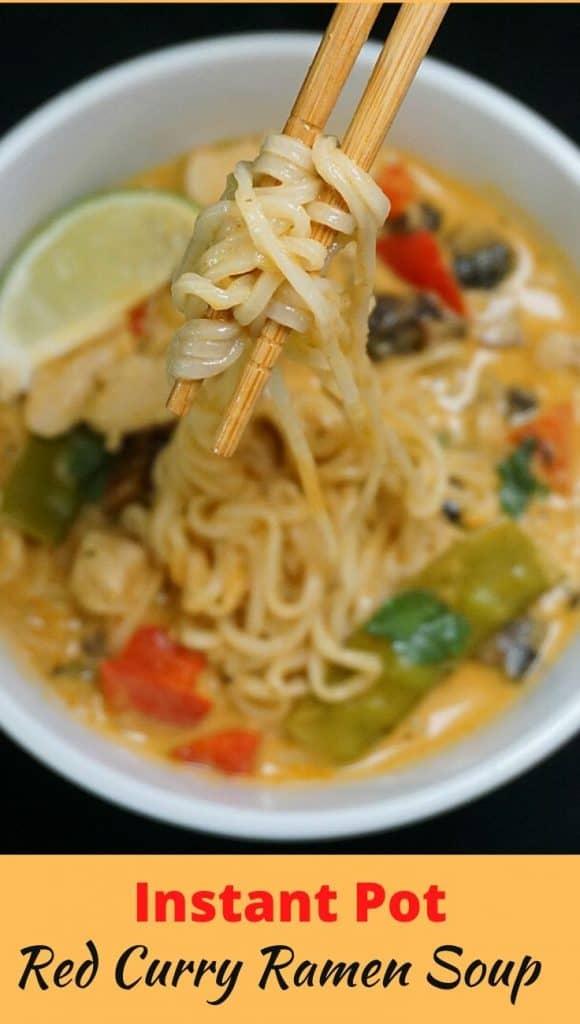 Instant Pot Chicken Curry Ramen
