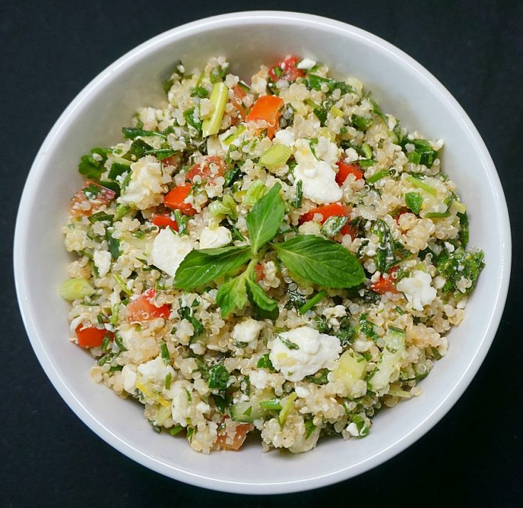 Instant Pot Quinoa Tabbouleh with Feta
